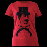 Top hat t-shirt - red