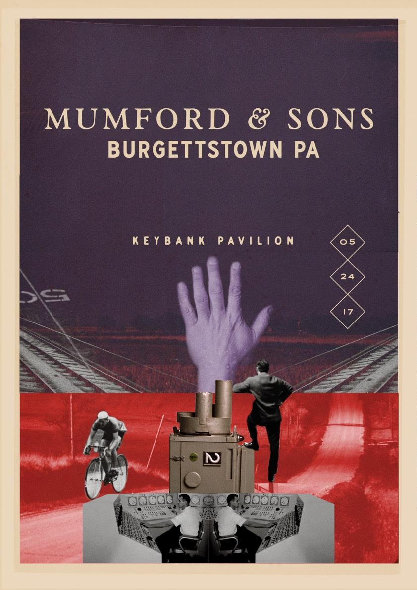 Mumford & Sons - Burgettstown PA - Poster