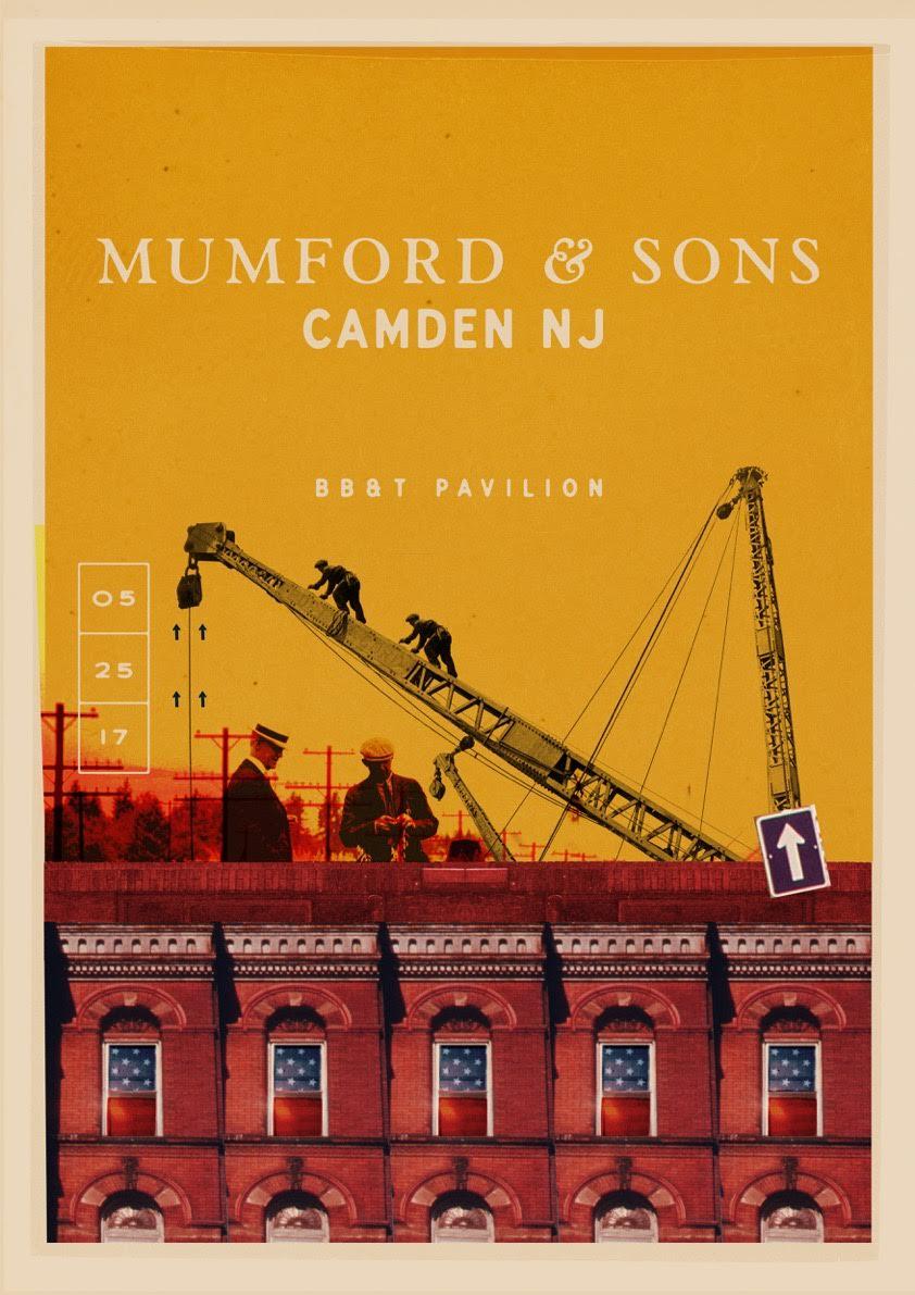 Mumford & Sons - Camden NJ - Poster