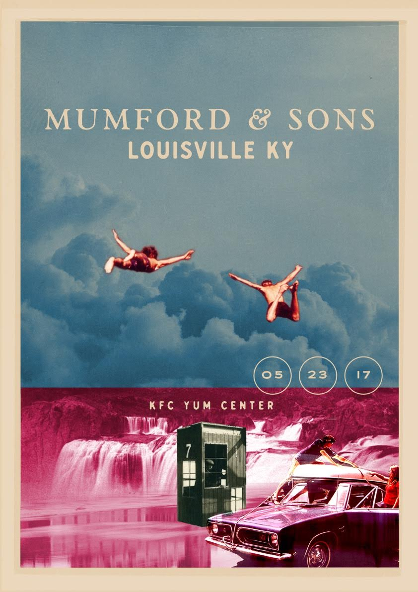Mumford & Sons - Louisville KY - Poster