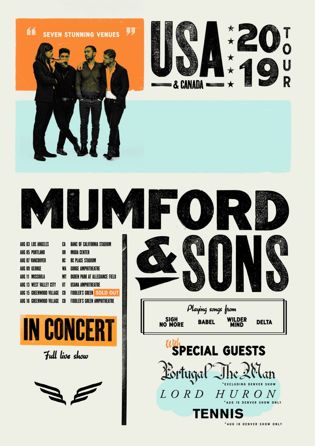 Mumford & Sons - Delta Tour US & Canada