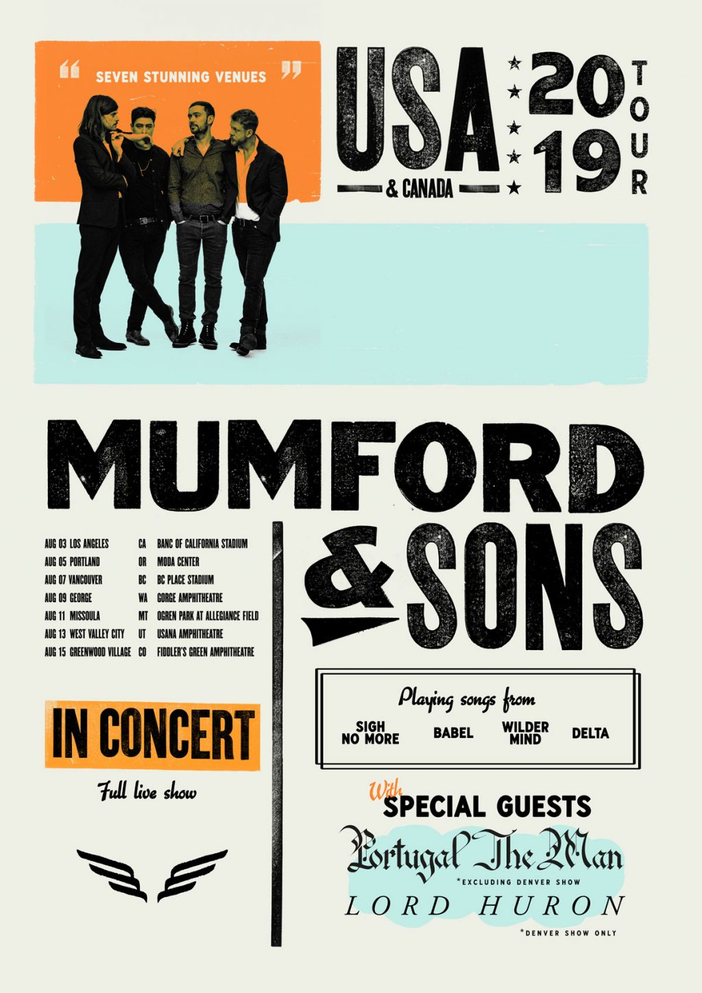 Mumford & Sons US & Canada Delta Tour