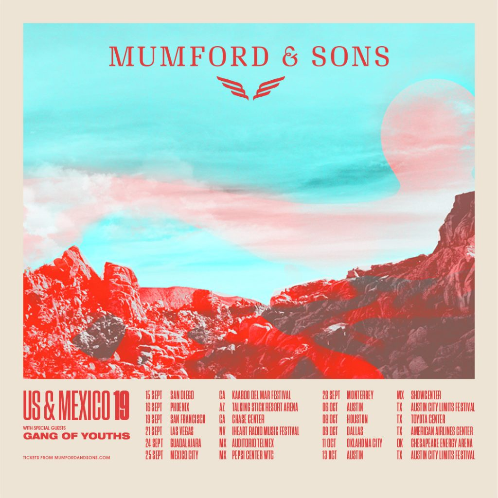 Mumford & Sons Delta Tour US & Mexico